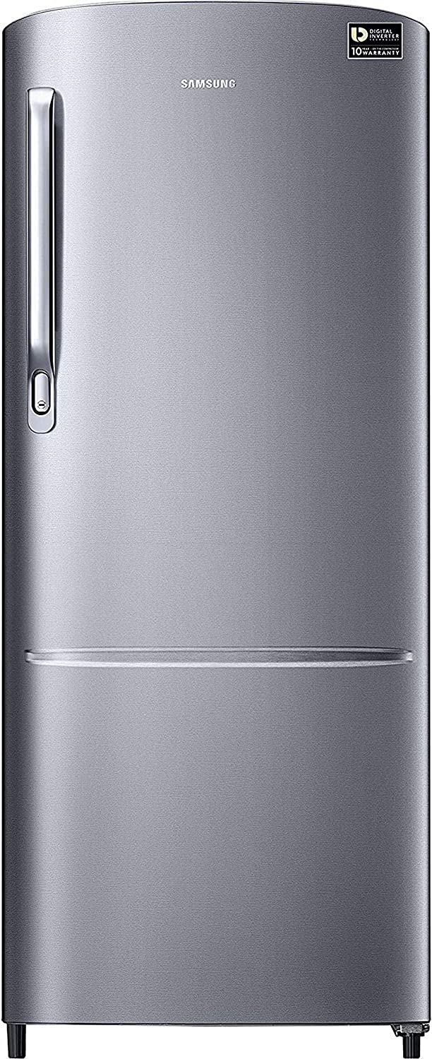 Samsung 212 L 3 Star ( 2019 ) Direct Cool Single Door Refrigerator(RR22M272ZS8, Elegant Inox, Inverter Compressor)