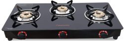 Butterfly 3 Burner Gas Stove Smart Glass Black
