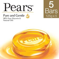 Pears Pure Bathing Bar Soap 125g – Pack 5