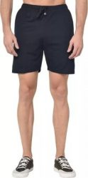 Solid Men Dark Blue Regular Shorts